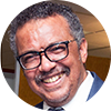 Dr Tedros Adhanom, Director General of WHO who kindly supports The Global Classroom in partnership with SHS