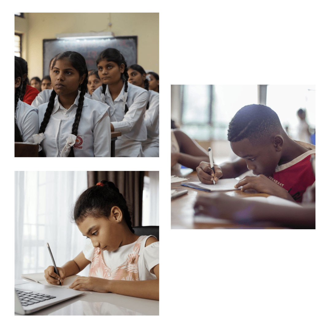 Images of students across the world
